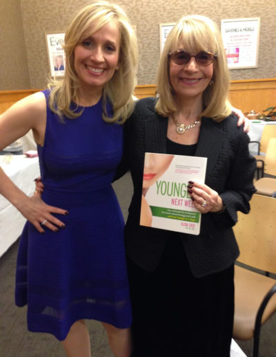 My mom and me at my book signing for Younger Next Week at Barnes and Noble Upper East Side