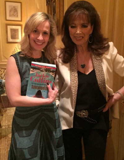 With Jackie Collins at a blogger afternoon tea