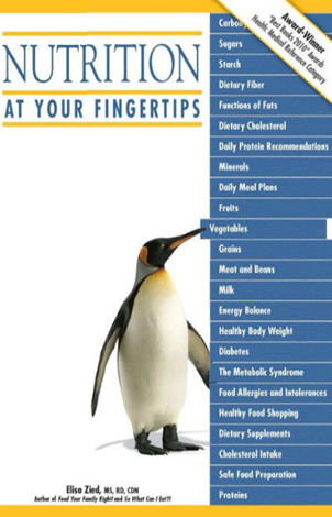 Nutrition at Your Fingertips by author Elisa Zied