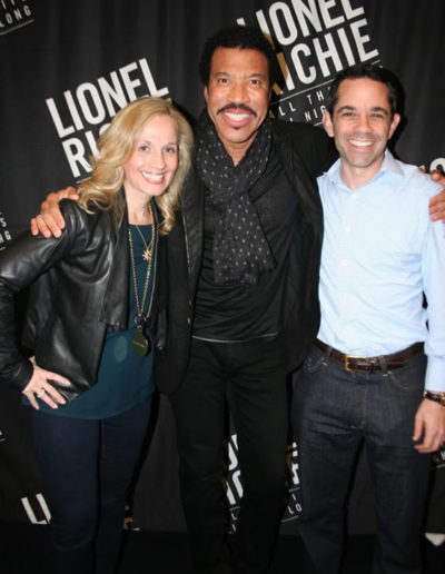 With Lionel Ritchie and my husband