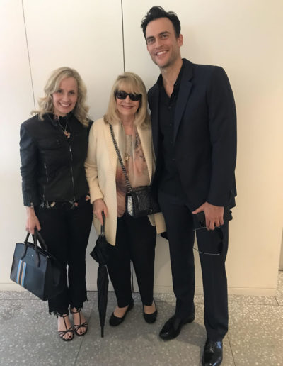 With my mom and Cheyenne Jackson